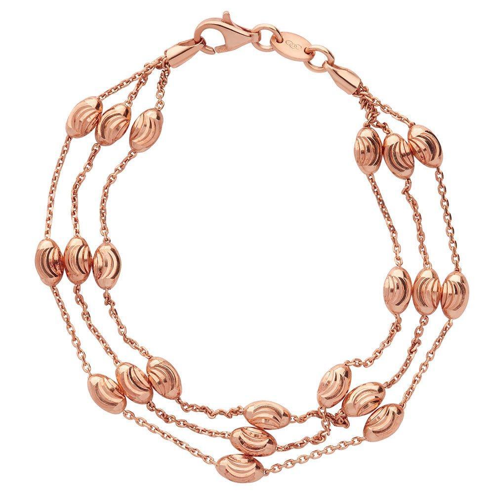 Links of London Rose Gold Plated Beaded Bracelet