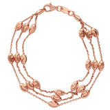 Links of London Rose Gold Plated Beaded Bracelet