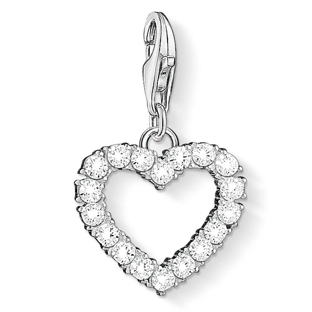 Thomas Sabo Silver Cubic Zirconia Heart Charm