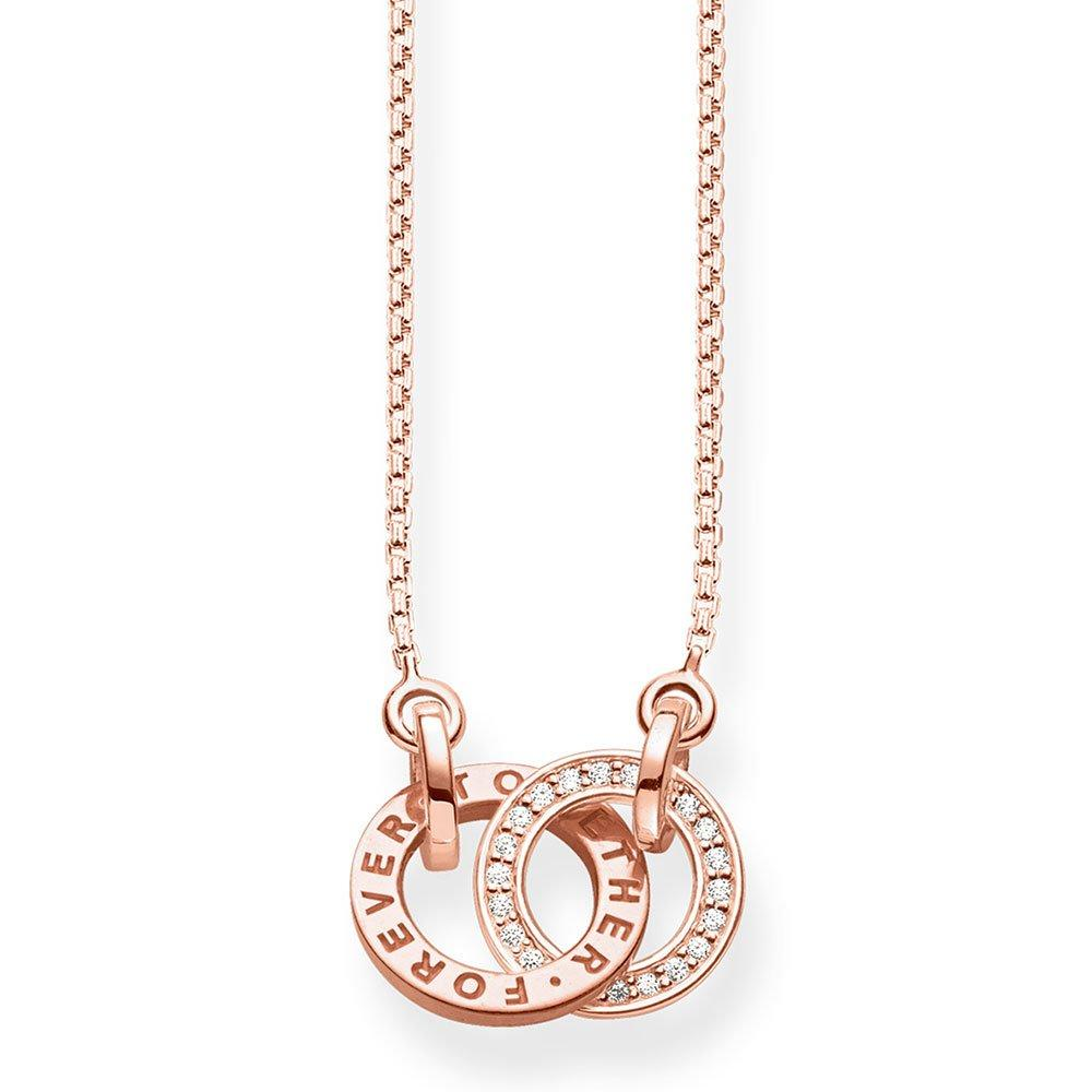 Thomas Sabo Glam & Soul Silver Rose Gold Plated Cubic Zirconia Necklace