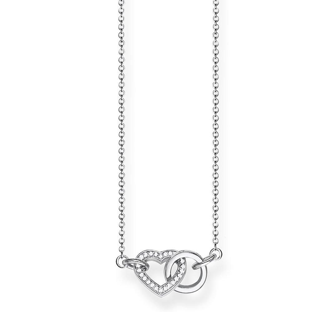 Thomas Sabo Glam & Soul Silver Heart Cubic Zirconia Necklace
