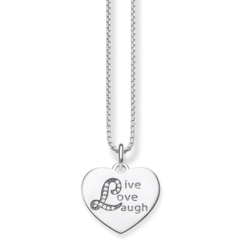 Thomas Sabo Glam & Soul Silver Cubic Zirconia Heart Pendant