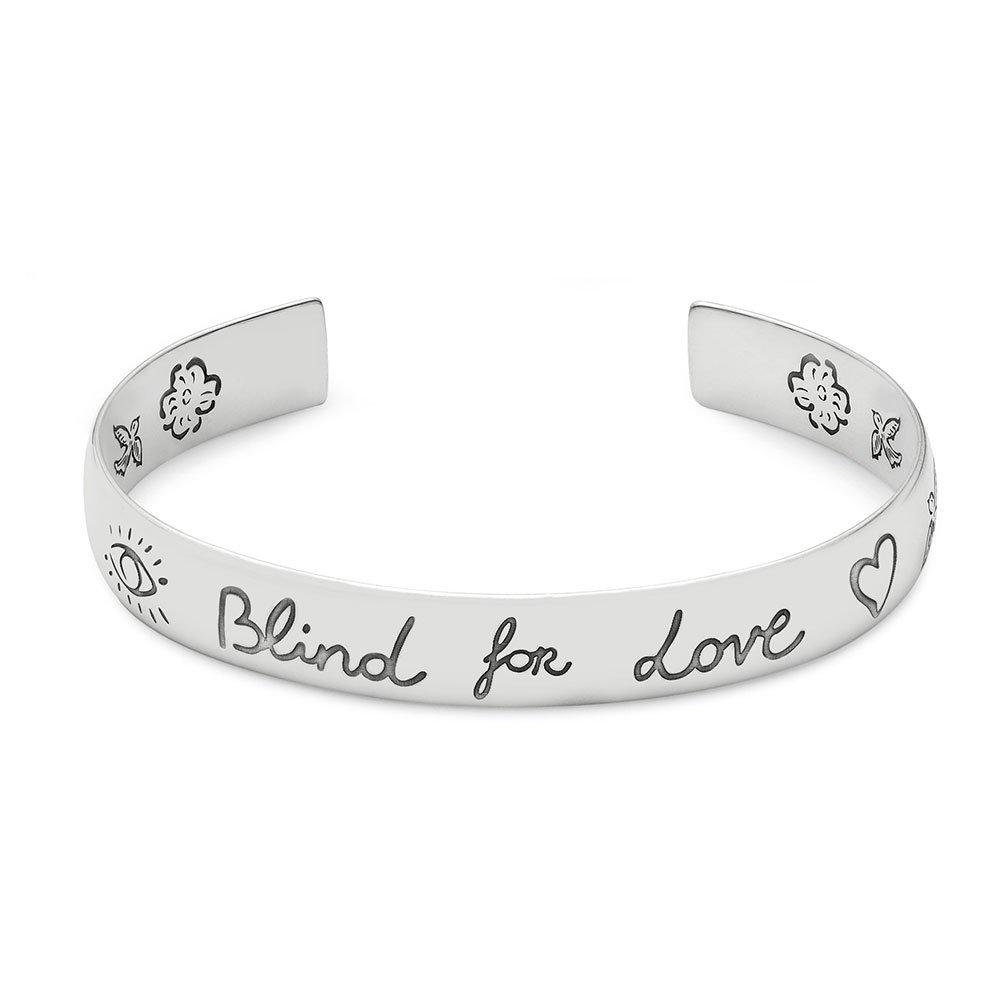 Gucci Blind For Love Silver Bangle