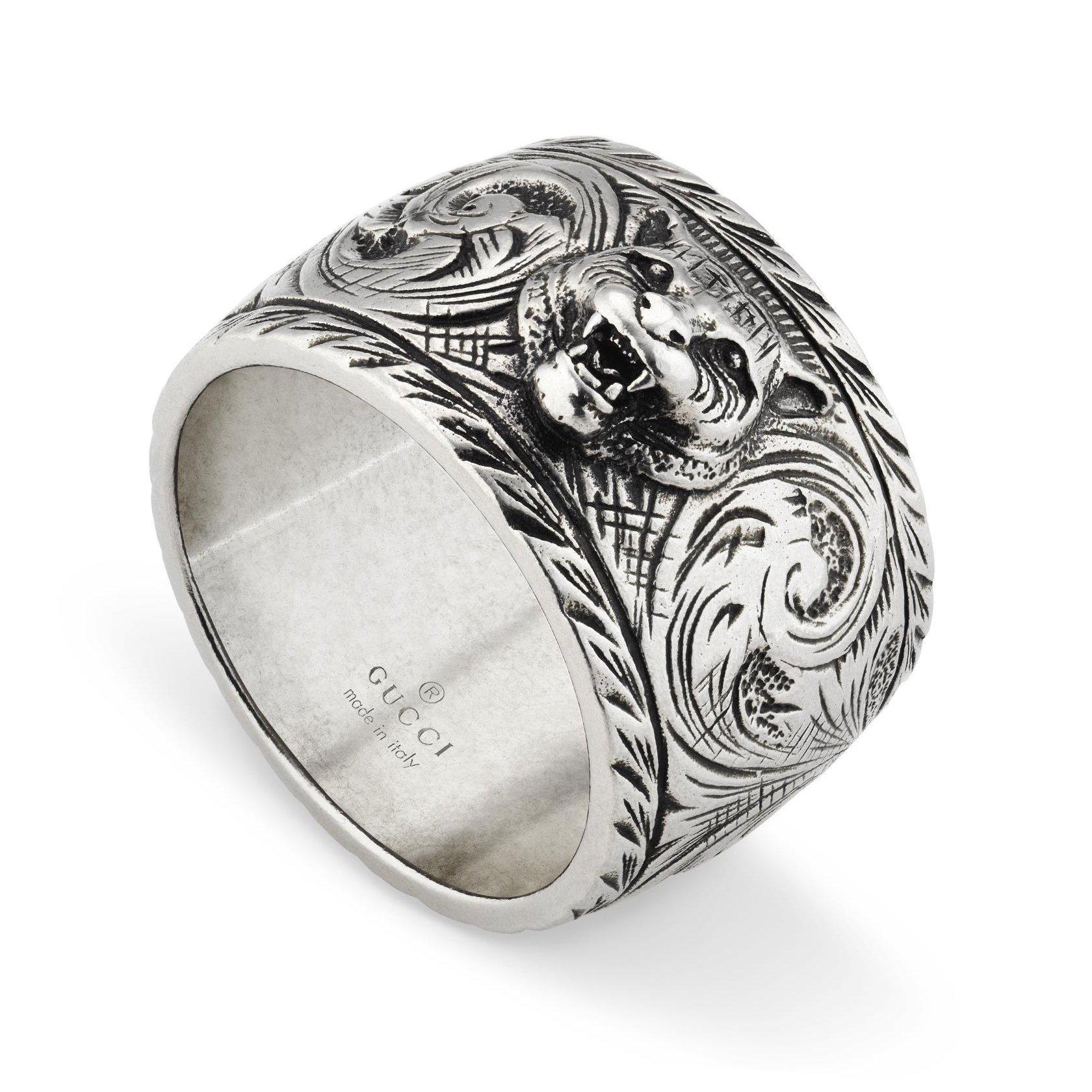 Gucci Gatto Silver Ring