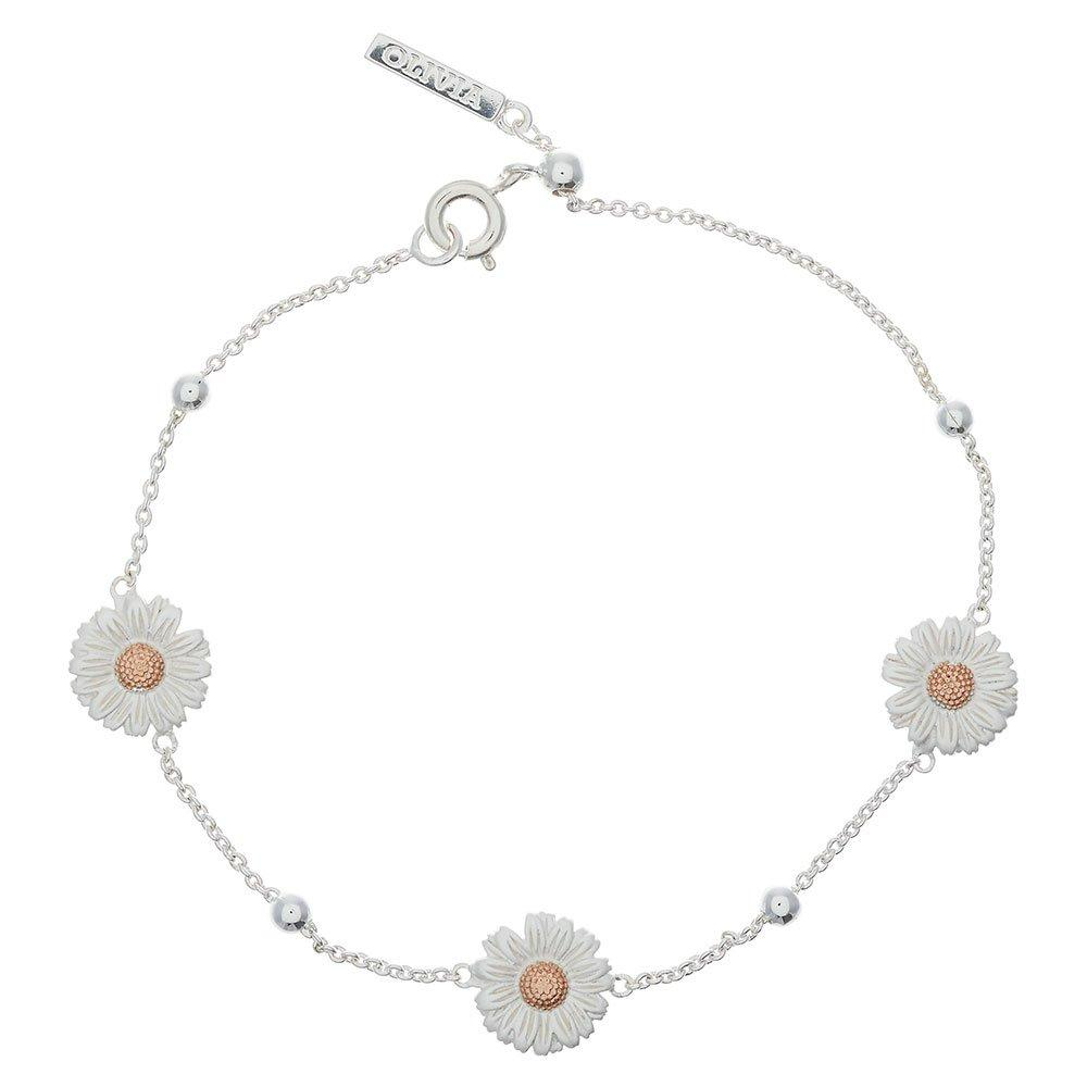 Olivia Burton Silver and 18ct Rose Gold Plated Daisy Bracelet
