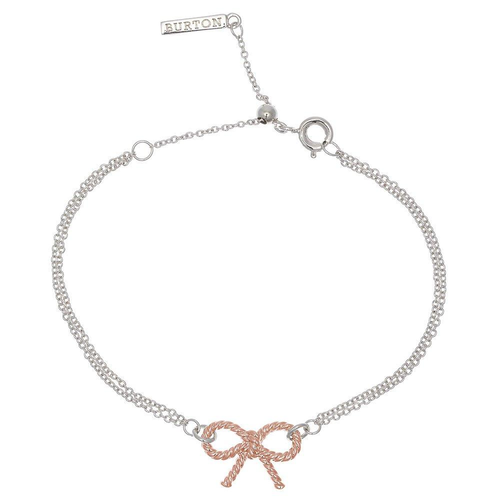 Olivia Burton Vintage Silver and 18ct Rose Gold Plated Bow Bracelet