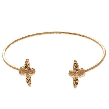 Olivia Burton 3D Bee 18ct Gold Plated Bangle