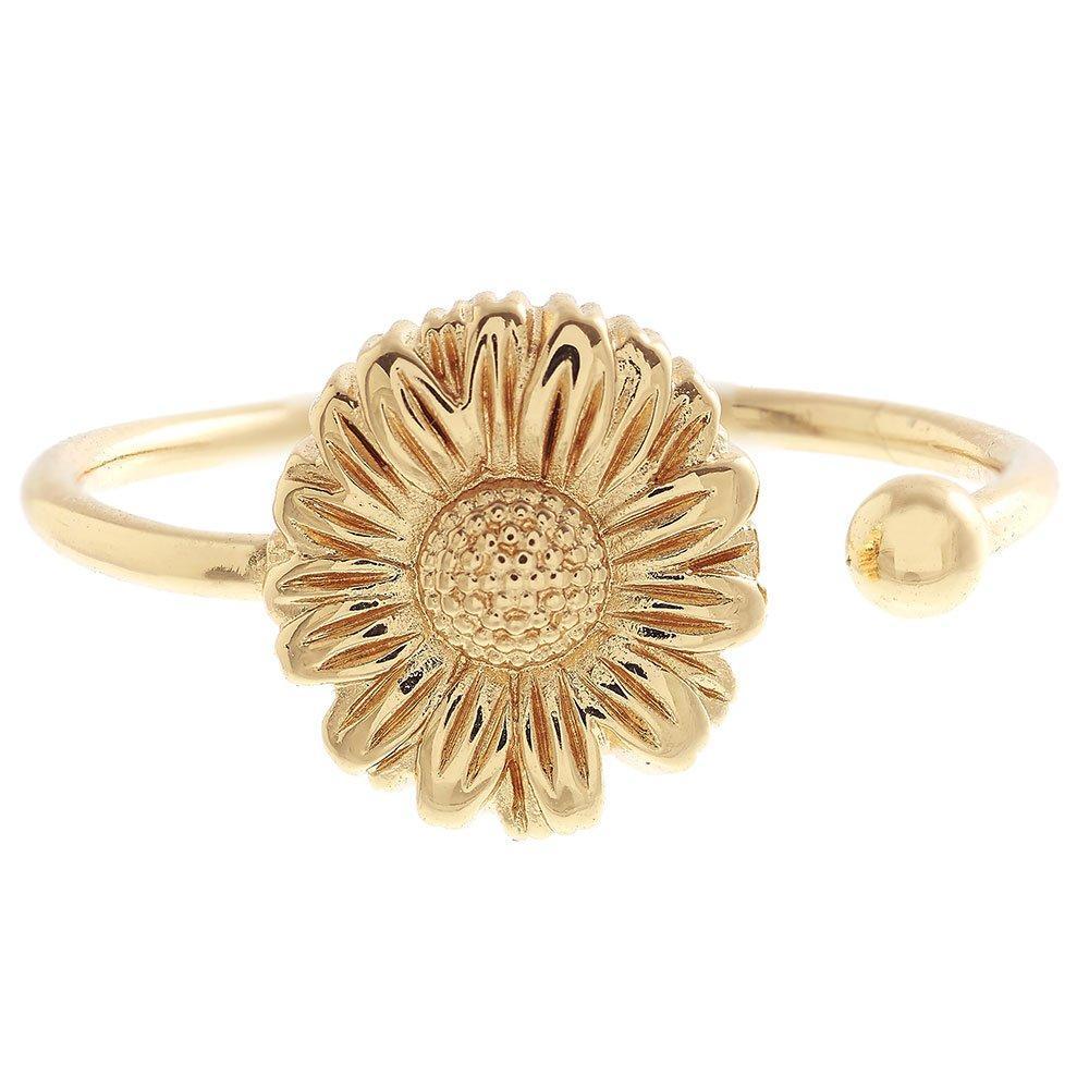 Olivia Burton 18ct Gold Plated Adjustable Daisy Ring