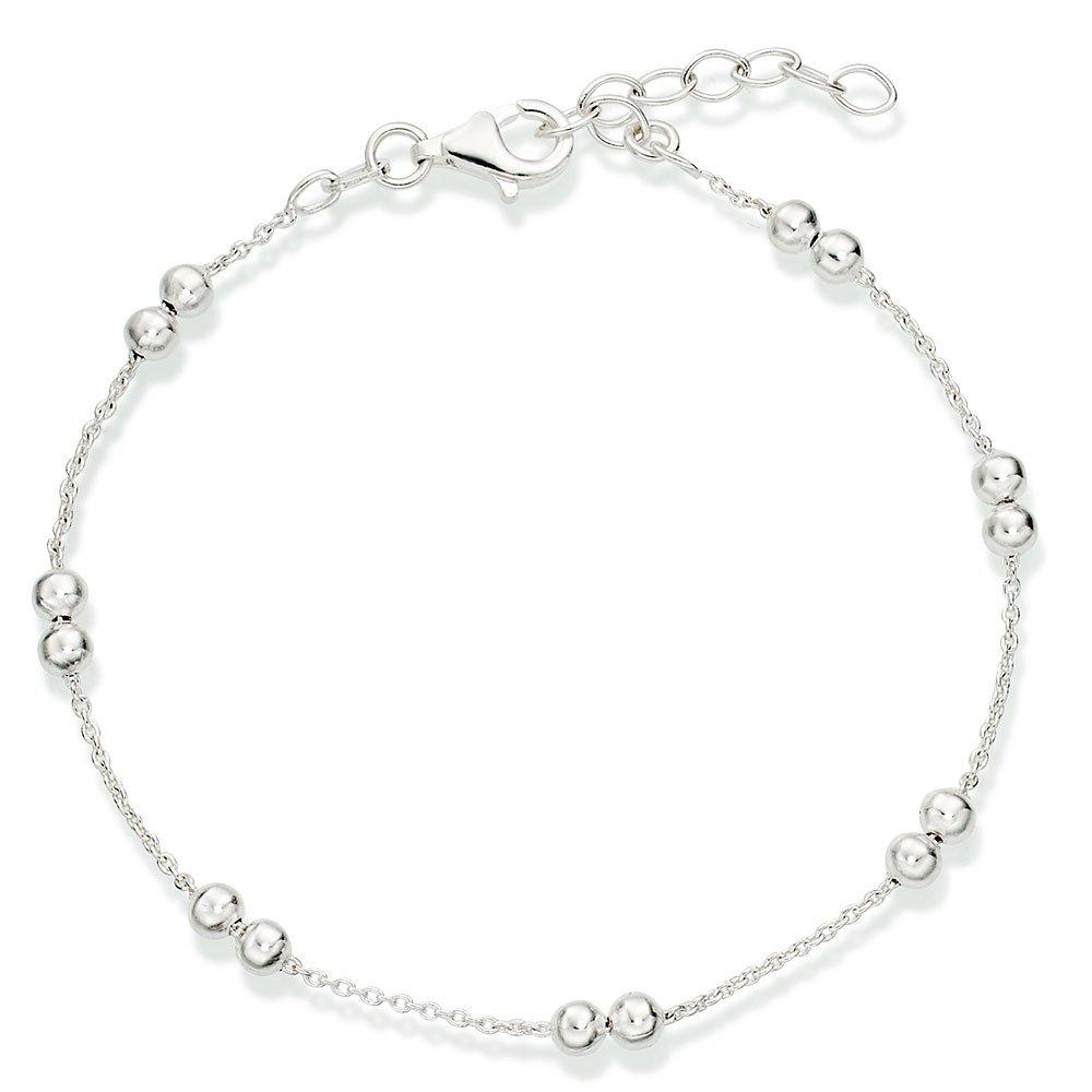Silver Double Ball Bracelet