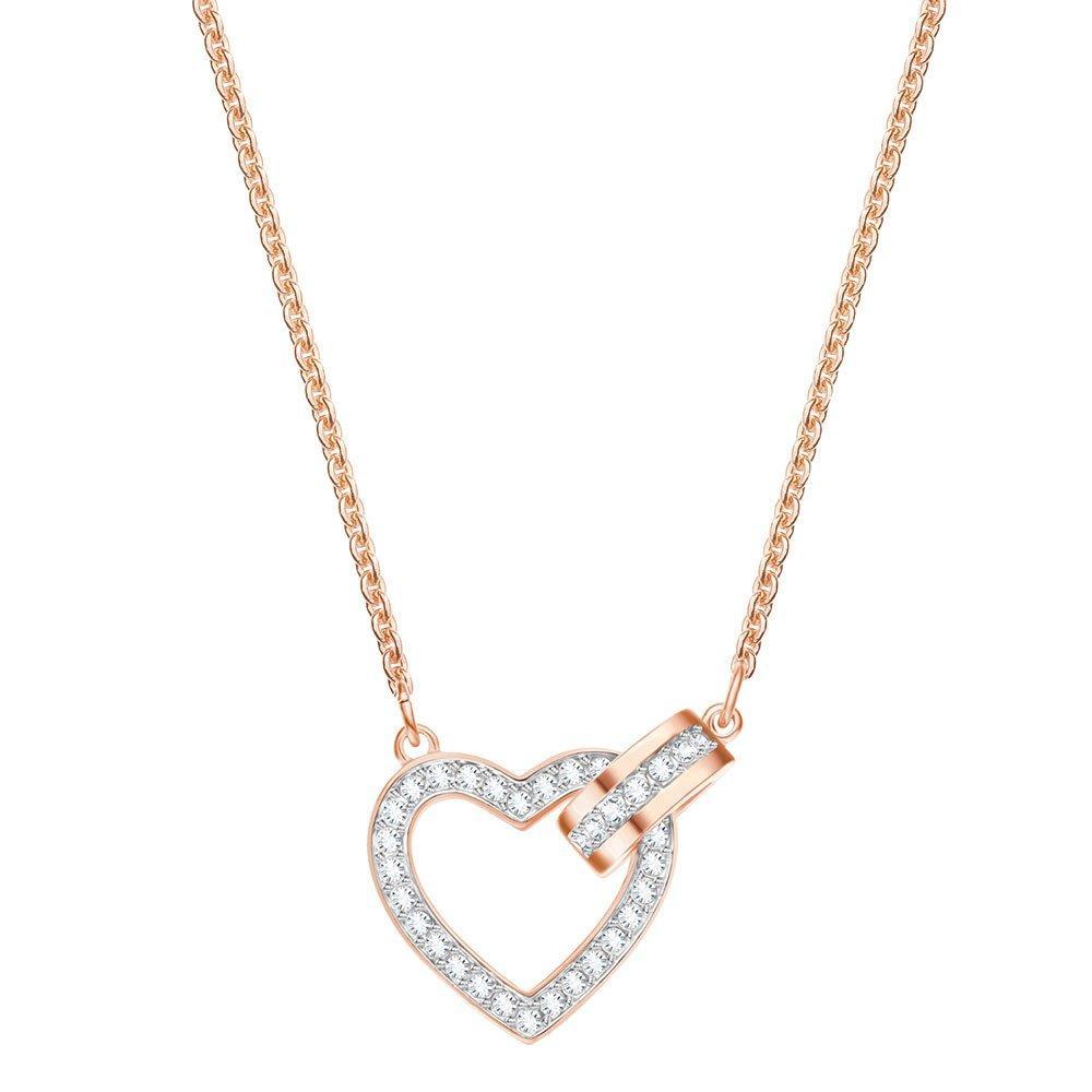 Swarovski Lovely Rose Gold Plated Crystal Necklace