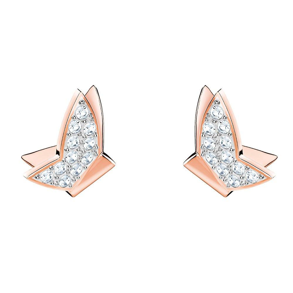 Swarovski Lilia Rose Gold Tone Crystal Earrings