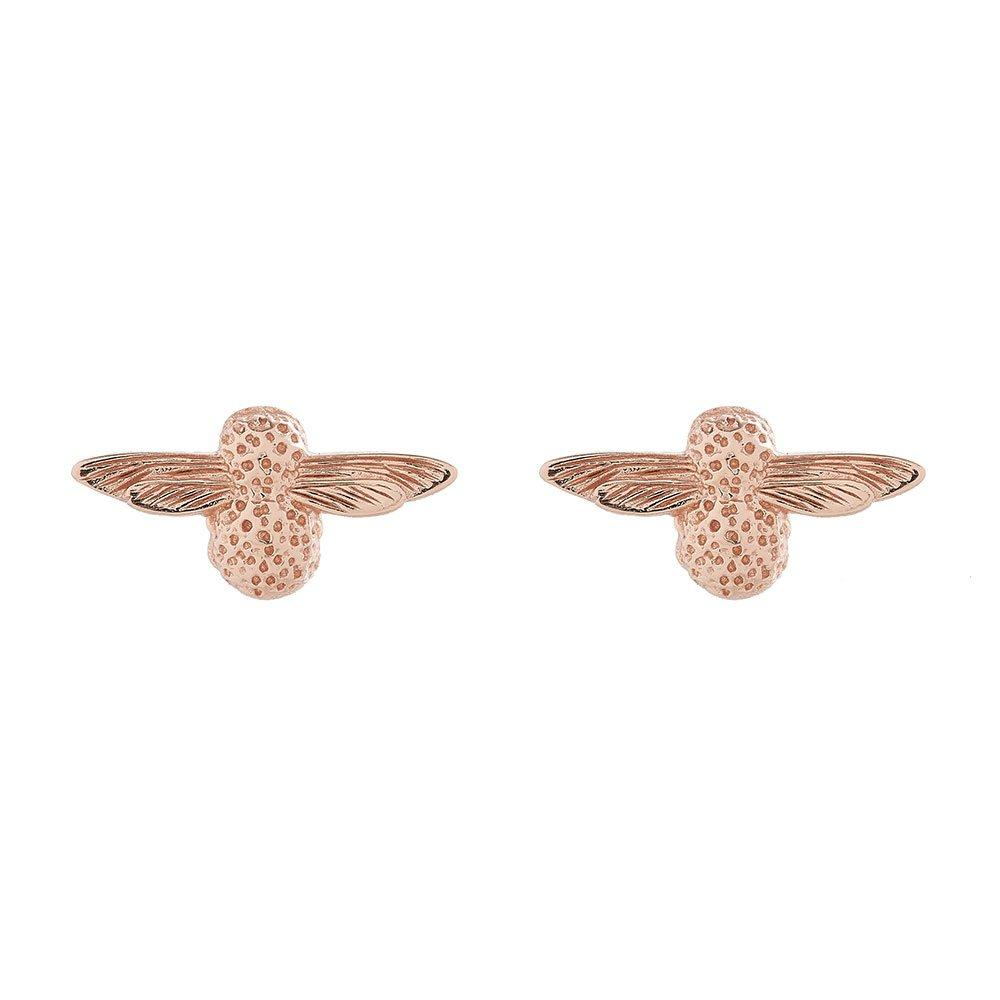 Olivia Burton 3D Bee Rose Gold Plated Silver Earrings