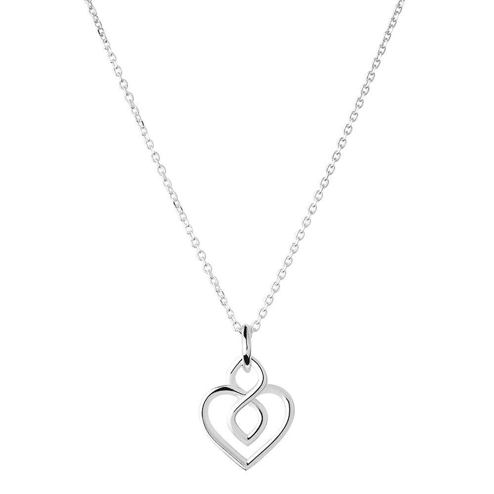 Links of London Infinite Love Silver Heart Necklace