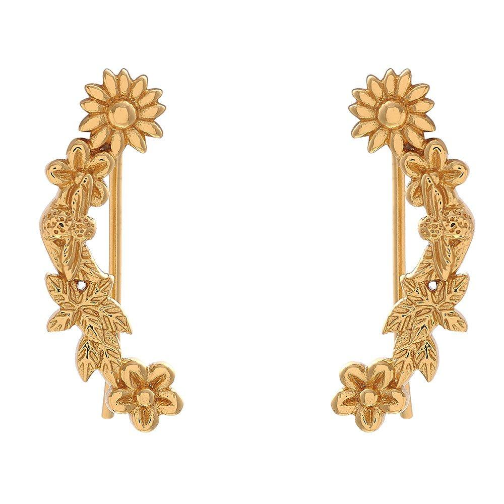 Olivia Burton Bee Blooms 18ct Gold Plated Silver Crawler Earrings