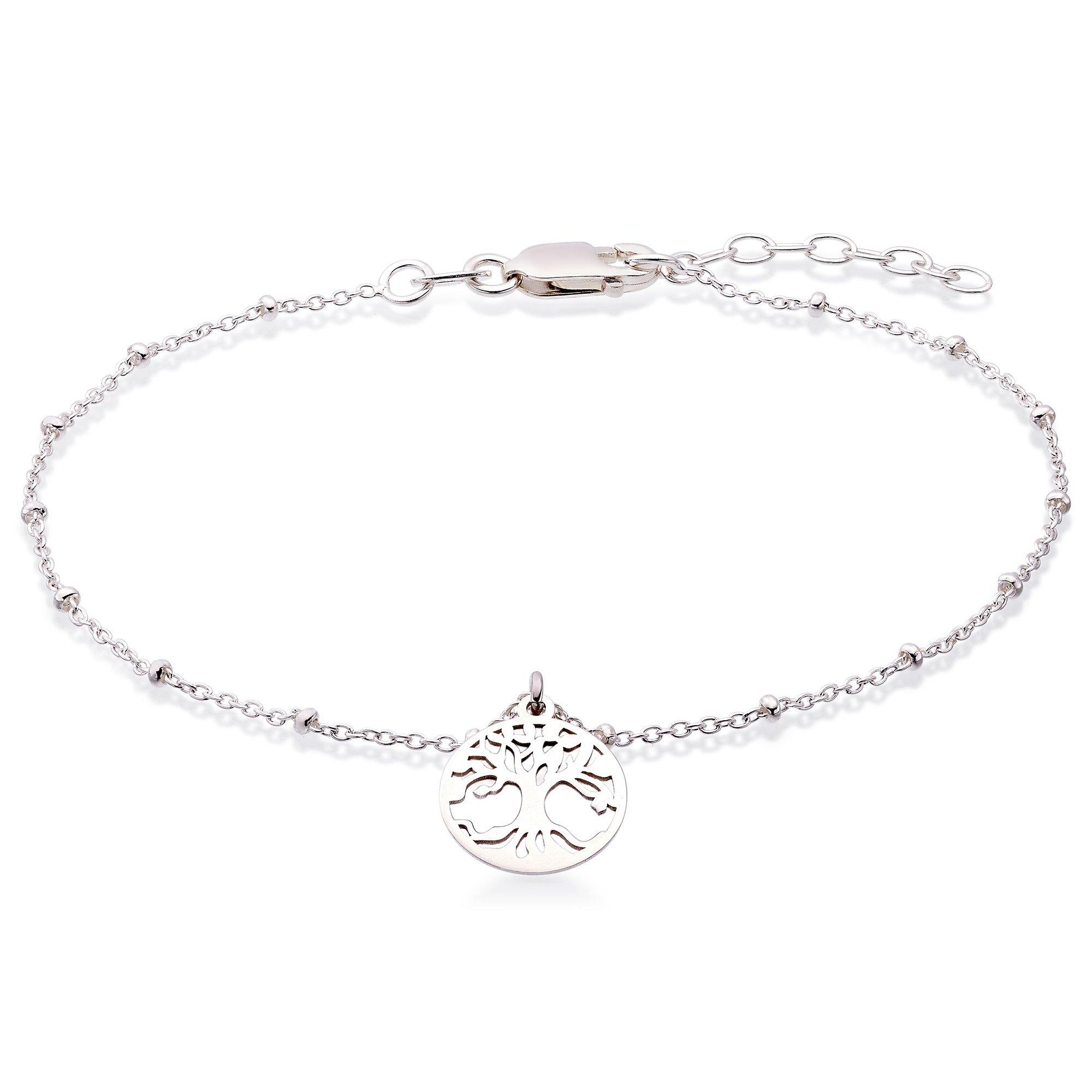 Silver Tree Anklet
