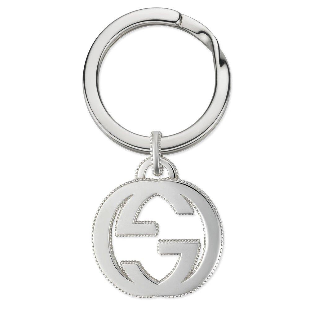Gucci Interlocking G Silver Keyring