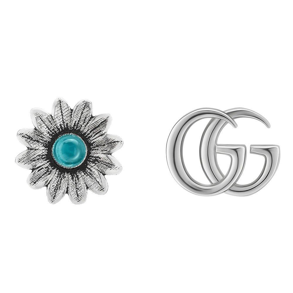 Gucci Marmont Silver Stud Earrings