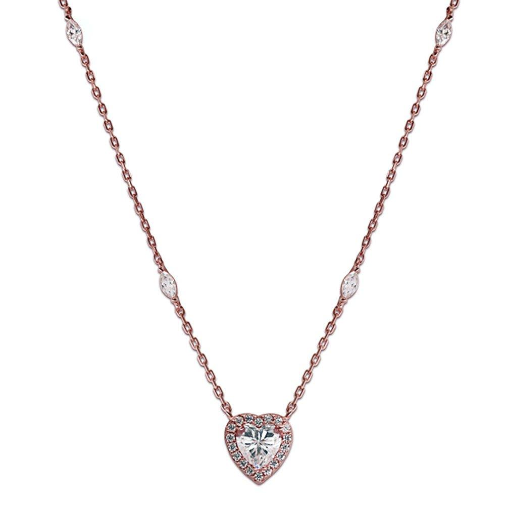 CARAT Cora Rose Gold Plated  Silver Heart Pendant