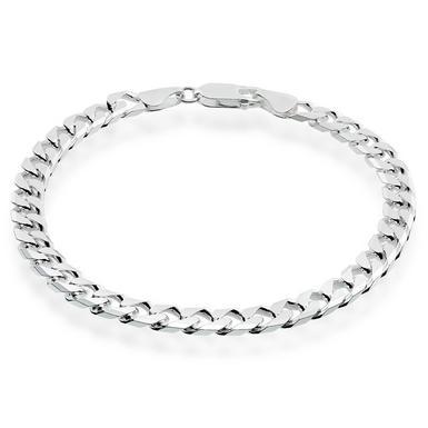 Silver Curb Men's Bracelet