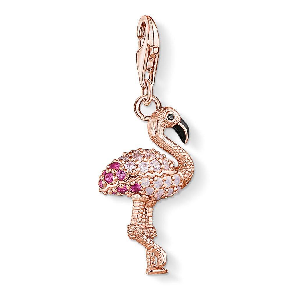 Thomas Sabo Generation Charm Club 18ct Rose Gold Plated Silver Flamingo Charm