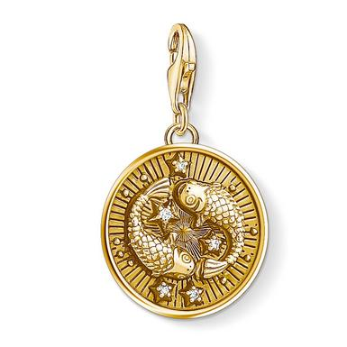 Thomas Sabo Generation Charm Club 18ct Gold Plated Silver Pisces Charm