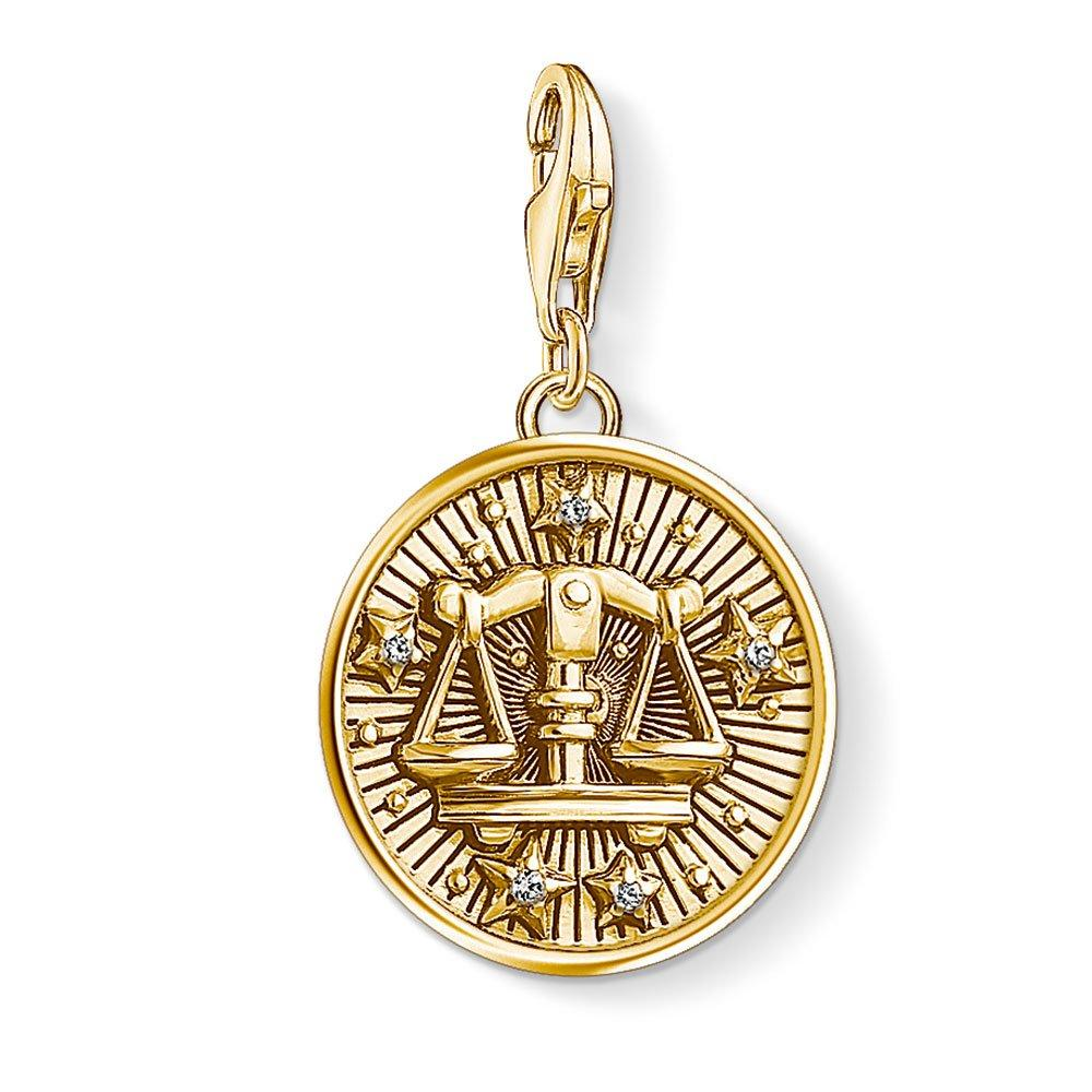 Thomas Sabo Generation Charm Club 18ct Gold Plated Silver Libra Charm