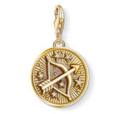 Thomas Sabo Generation Charm Club 18ct Gold Plated Silver Sagittarius Charm