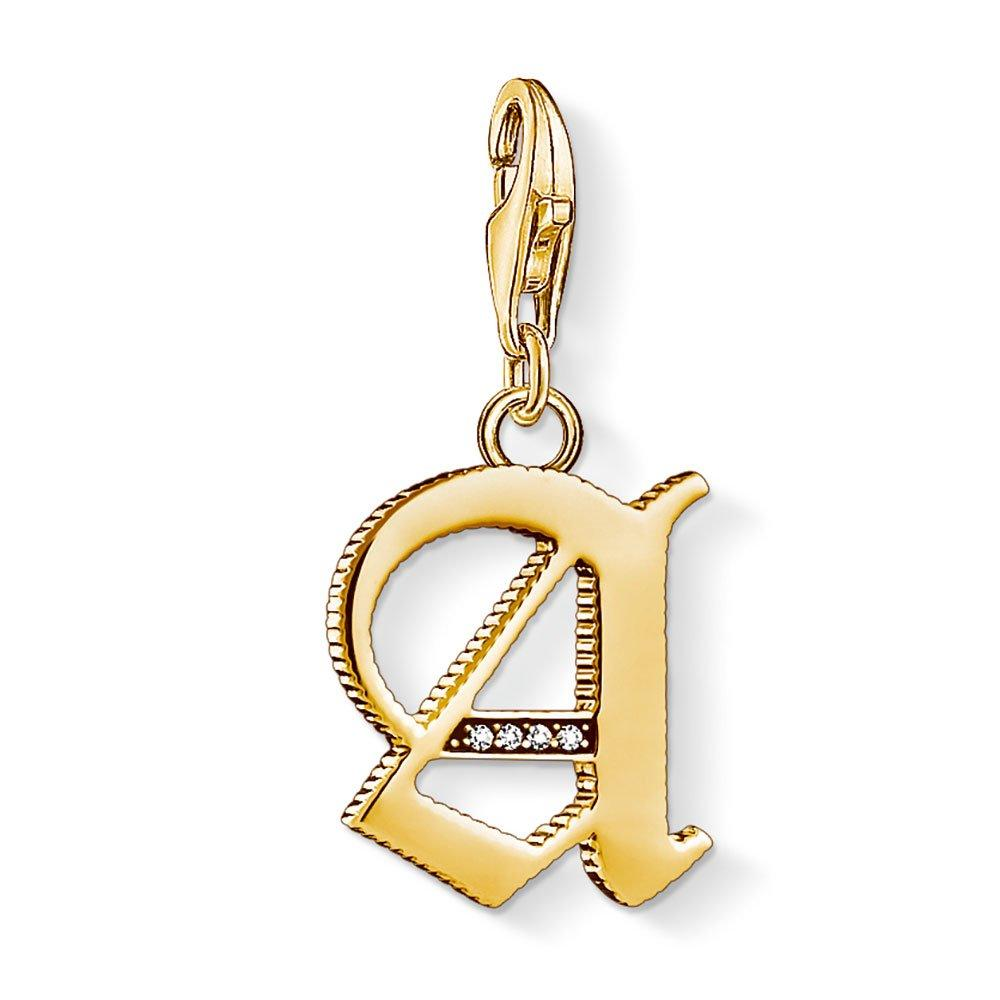 Thomas Sabo Generation Charm Club 18ct Gold Plated Silver A Charm