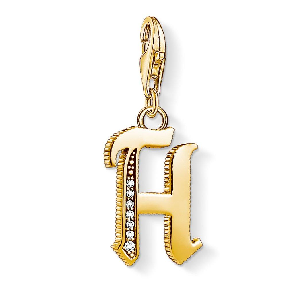 Thomas Sabo Generation Charm Club Vintage 18ct Gold Plated Silver H Charm