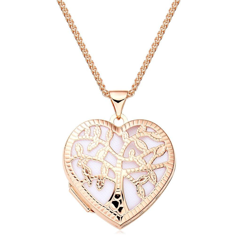 Rose Gold Plated Silver Tree Locket