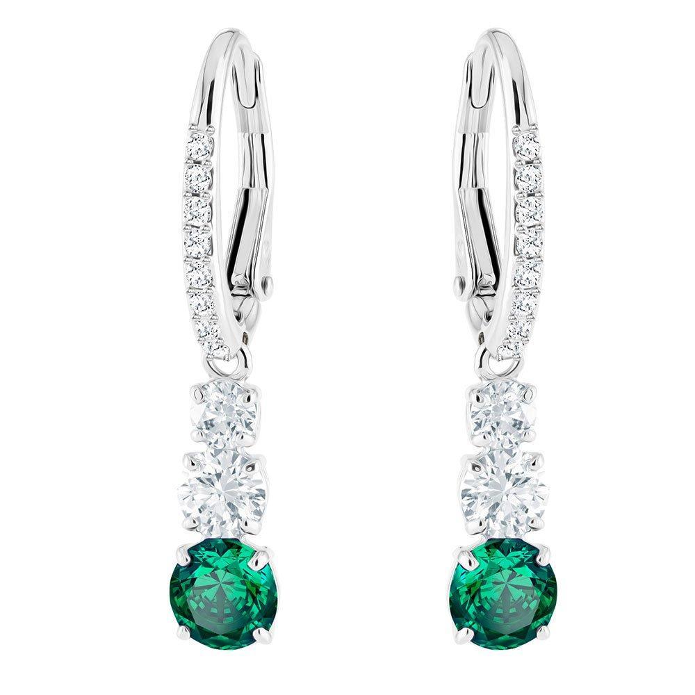 Swarovski Attract Crystal Drop Hoop Earrings