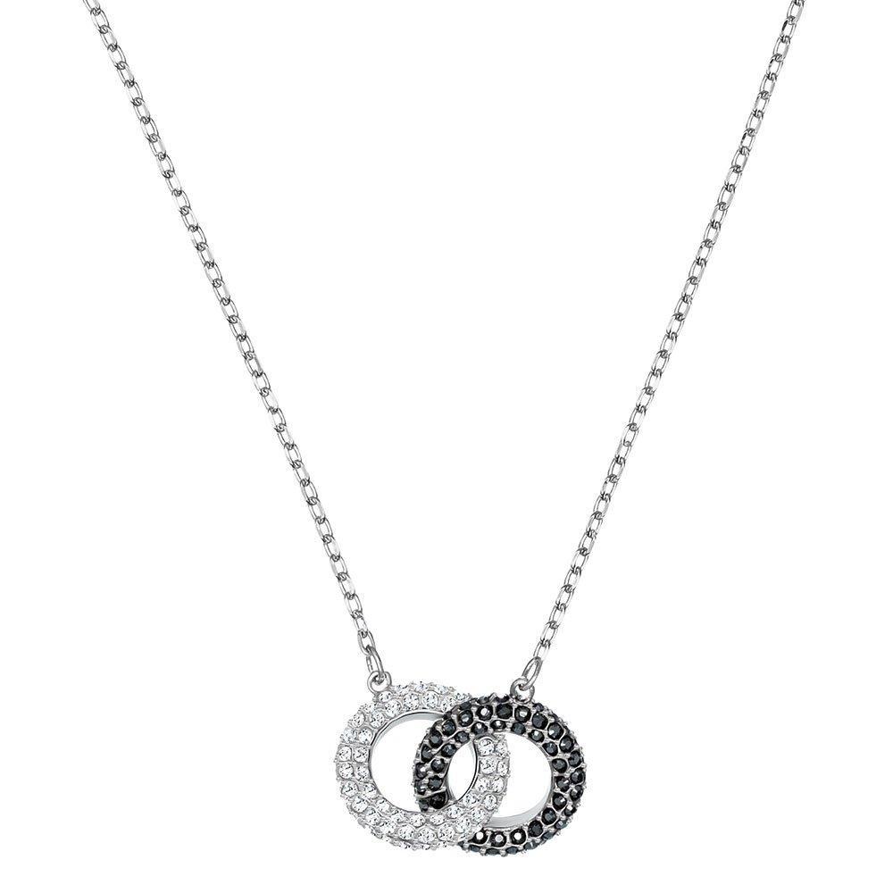 Swarovski Crystal Double Circle Necklace