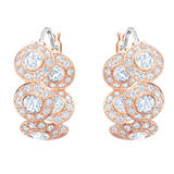 Swarovski Angelic Rose Gold Plated Crystal Hoop Earrings