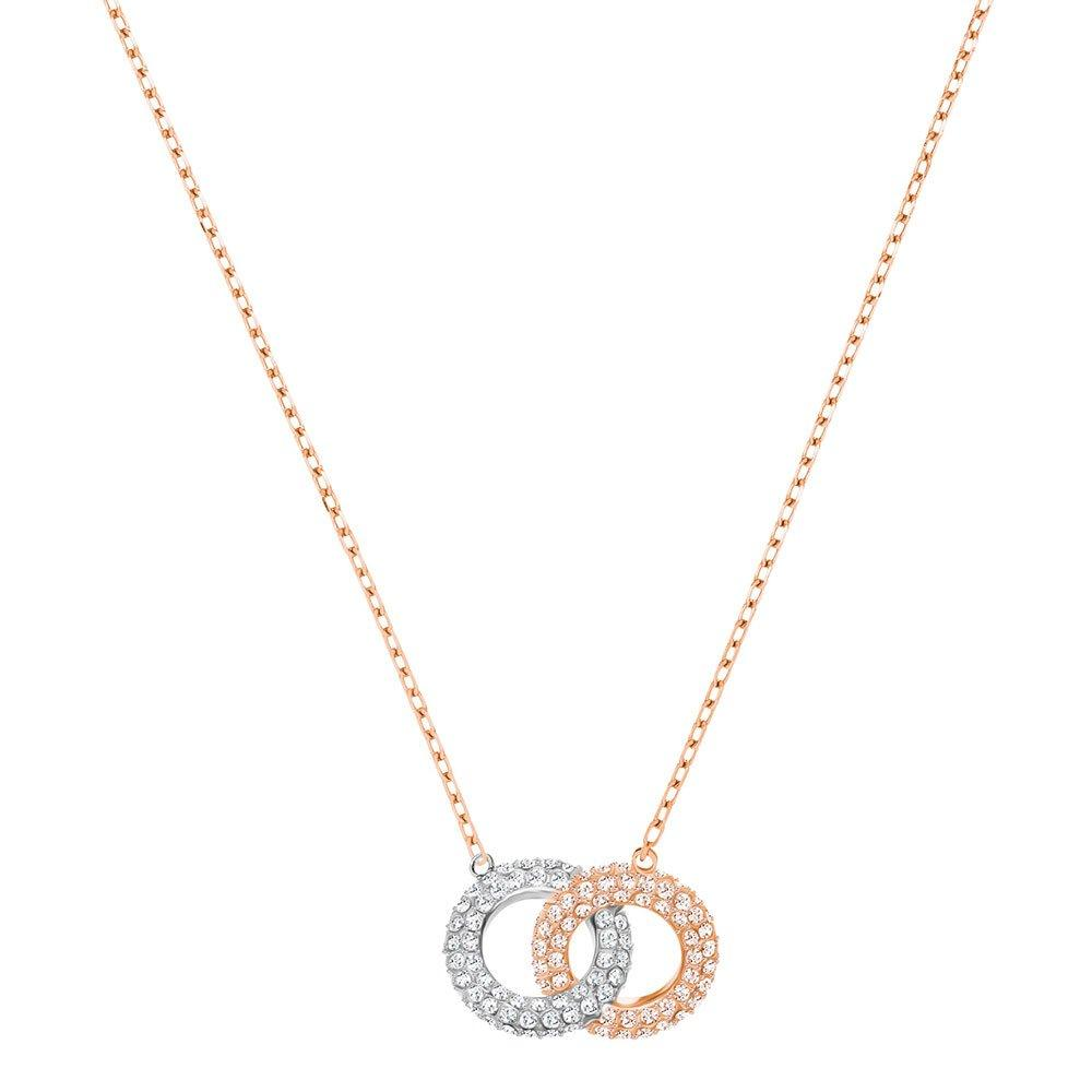 Swarovski Two Colour Crystal Circle Necklace