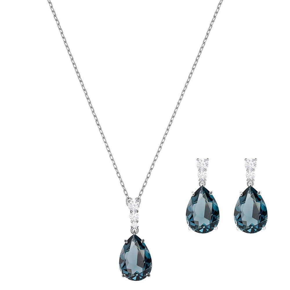 Swarovski Vintage Crystal Pendant and Earrings Set