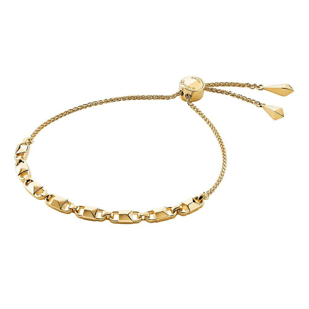 Michael Kors Mercer Link 14ct Gold Plated Silver Slider Bracelet