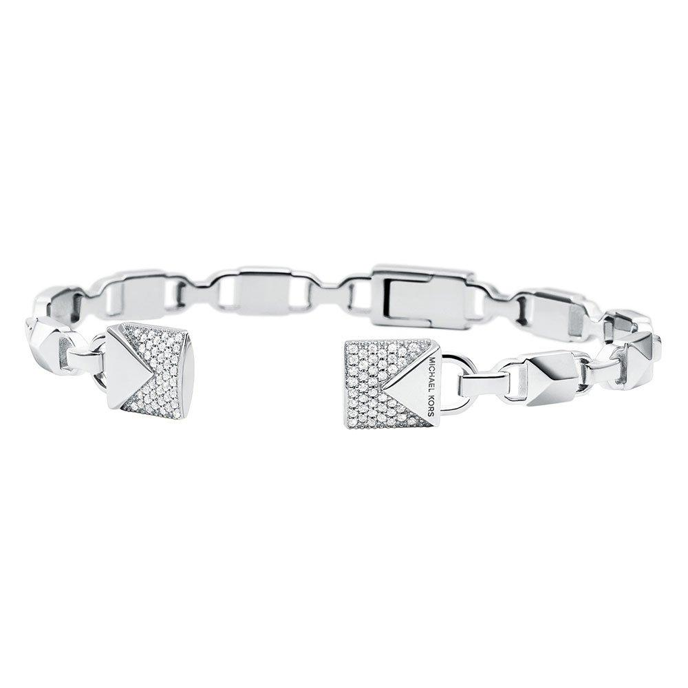 Michael Kors Mercer Link Silver Cubic Zirconia Bangle