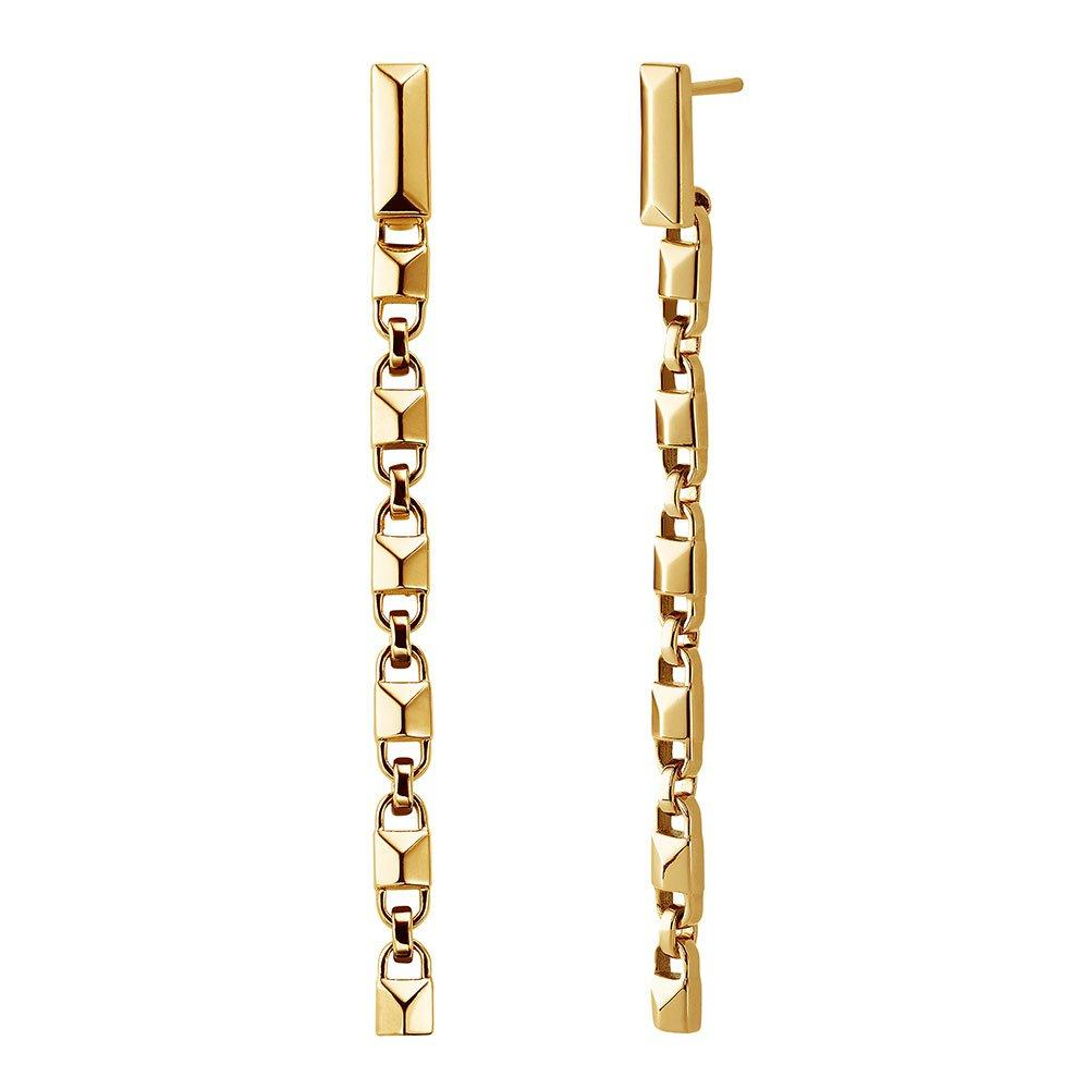 Michael Kors Mercer Link 14ct Gold Plated Silver Drop Earrings