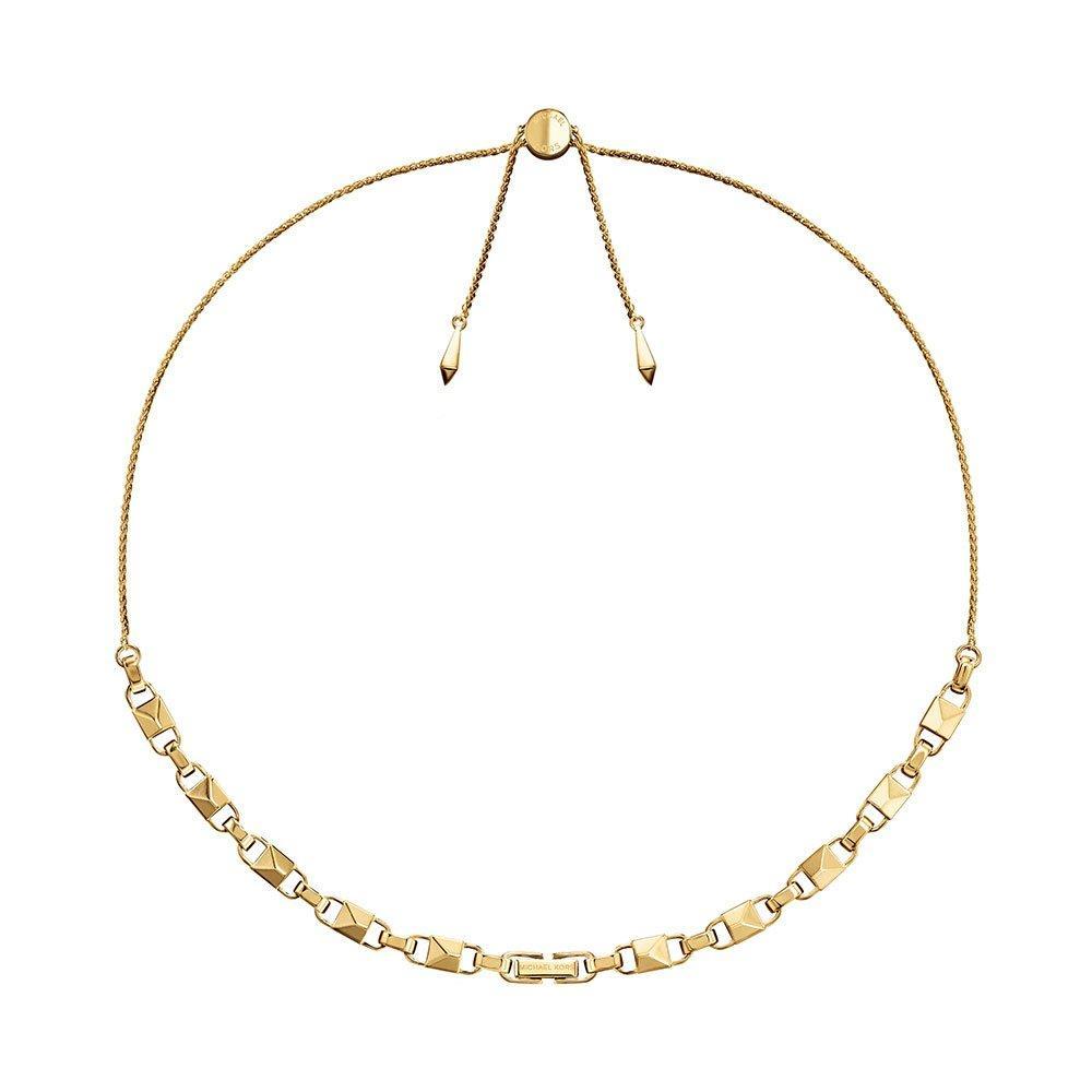Michael Kors Mercer Link 14ct Gold Plated Silver Slider Necklace