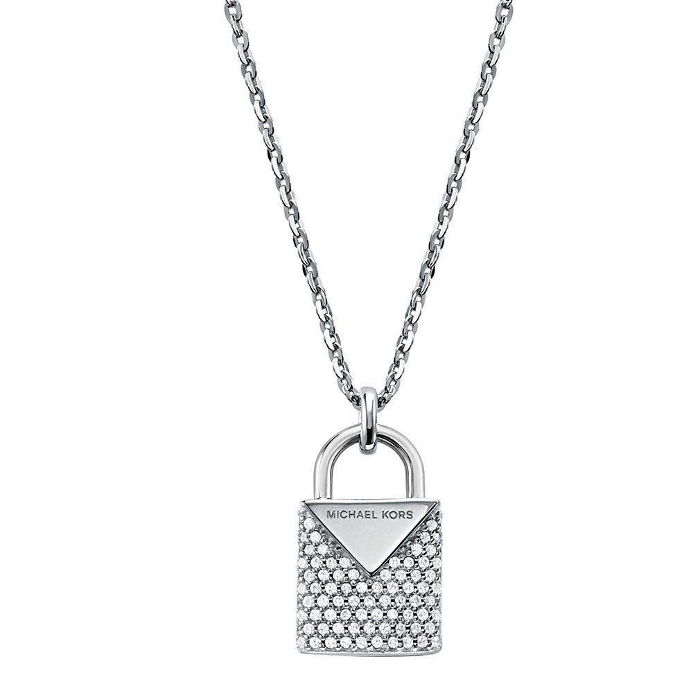 Michael Kors Kors Colour Silver Cubic Zirconia Padlock Pendant