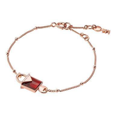 Michael Kors Kors Colour 14ct Rose Gold Plated Silver Red Quartz Pendant