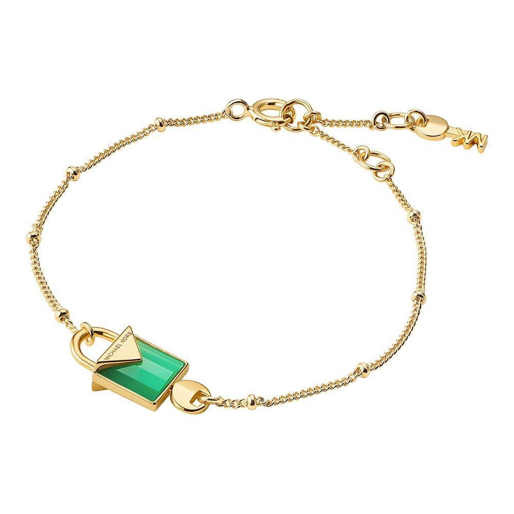 Michael Kors Kors Colour 14ct Gold Plated Silver Agate Bracelet