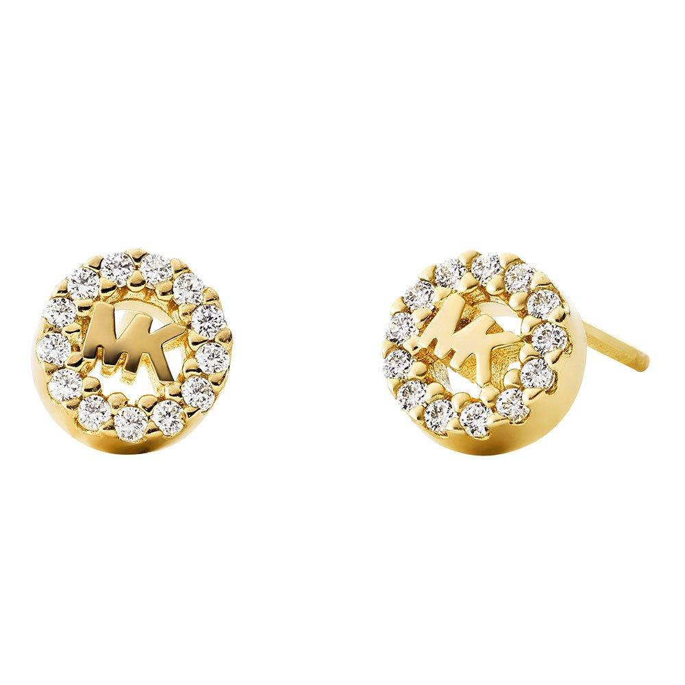 Michael Kors Custom Kors 14ct Gold Plated Silver Cubic Zirconia Stud Earrings