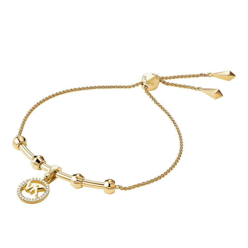 Michael Kors Custom Kors 14ct Gold Plated Silver Cubic Zirconia Slider Bracelet
