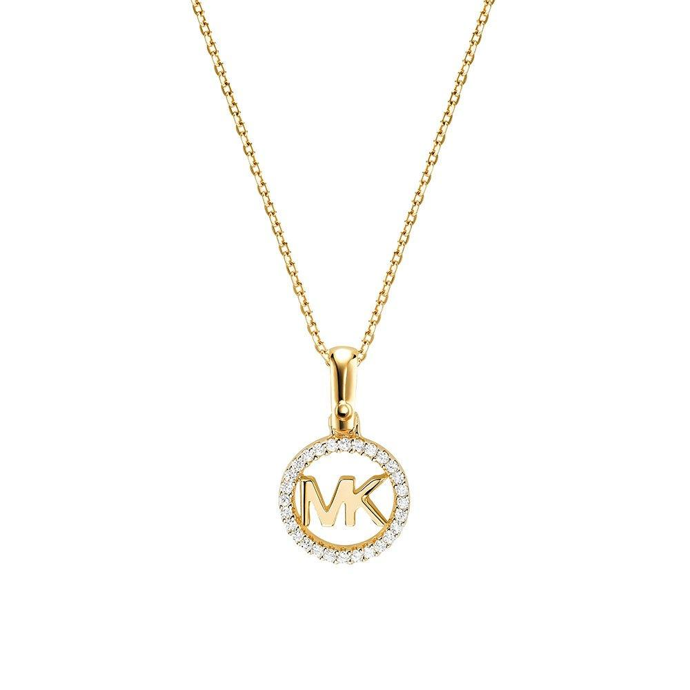 Michael Kors Custom Kors 14ct Gold Plated Silver Cubic Zirconia Pendant