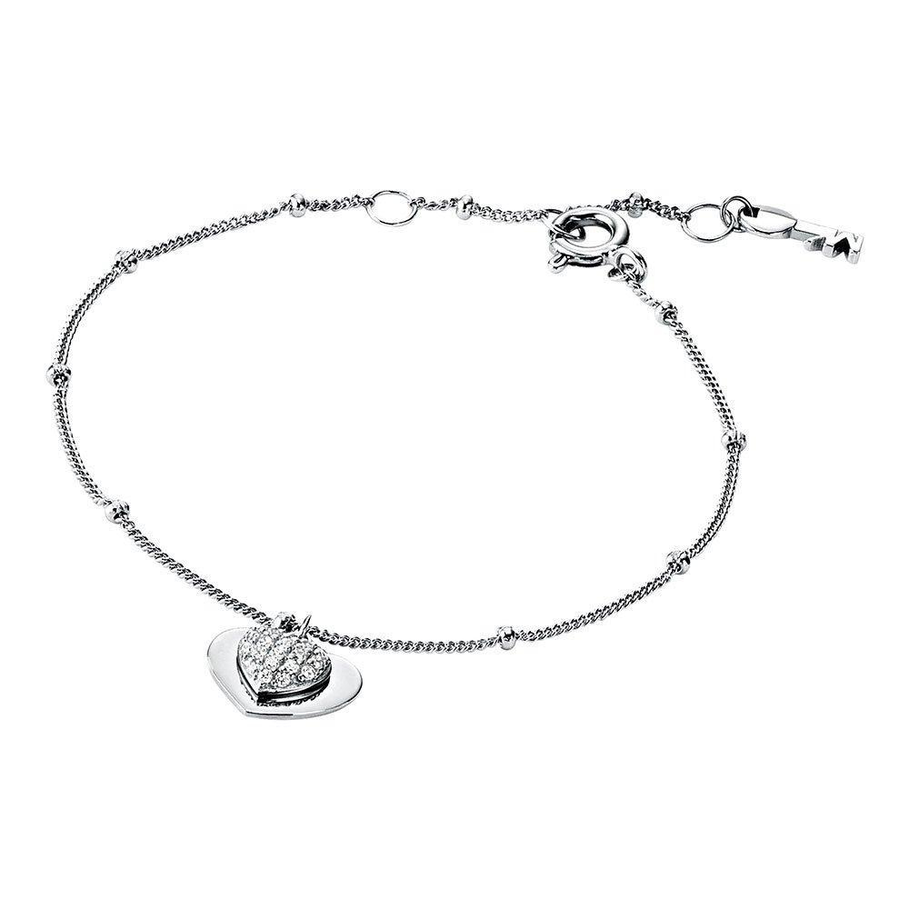 Michael Kors Love Silver Cubic Zirconia Heart Bracelet