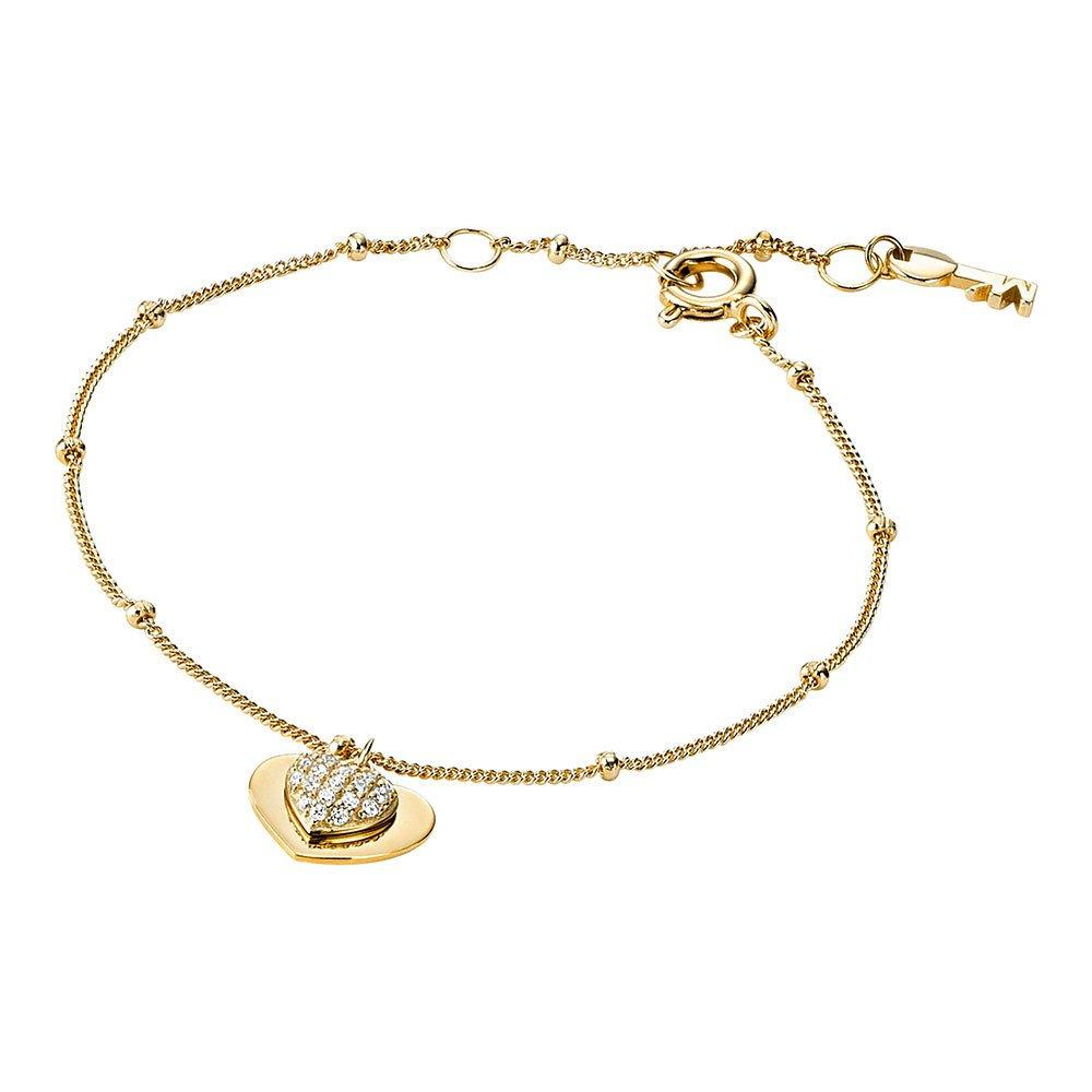 Michael Kors Love 14ct Gold Plated Silver Cubic Zirconia Bracelet