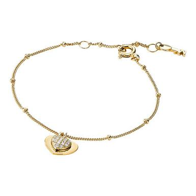 Michael Kors Love 14ct Gold Plated Silver Cubic Zirconia Bracelet