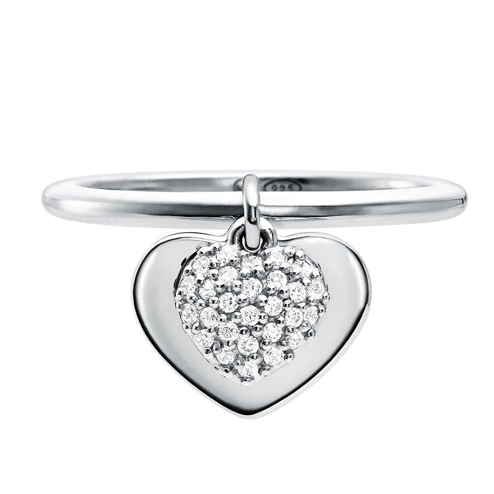 Michael Kors Love Silver Cubic Zirconia Heart Ring