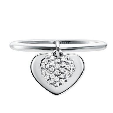 Michael Kors Love Silver Cubic Zirconia Heart Ring